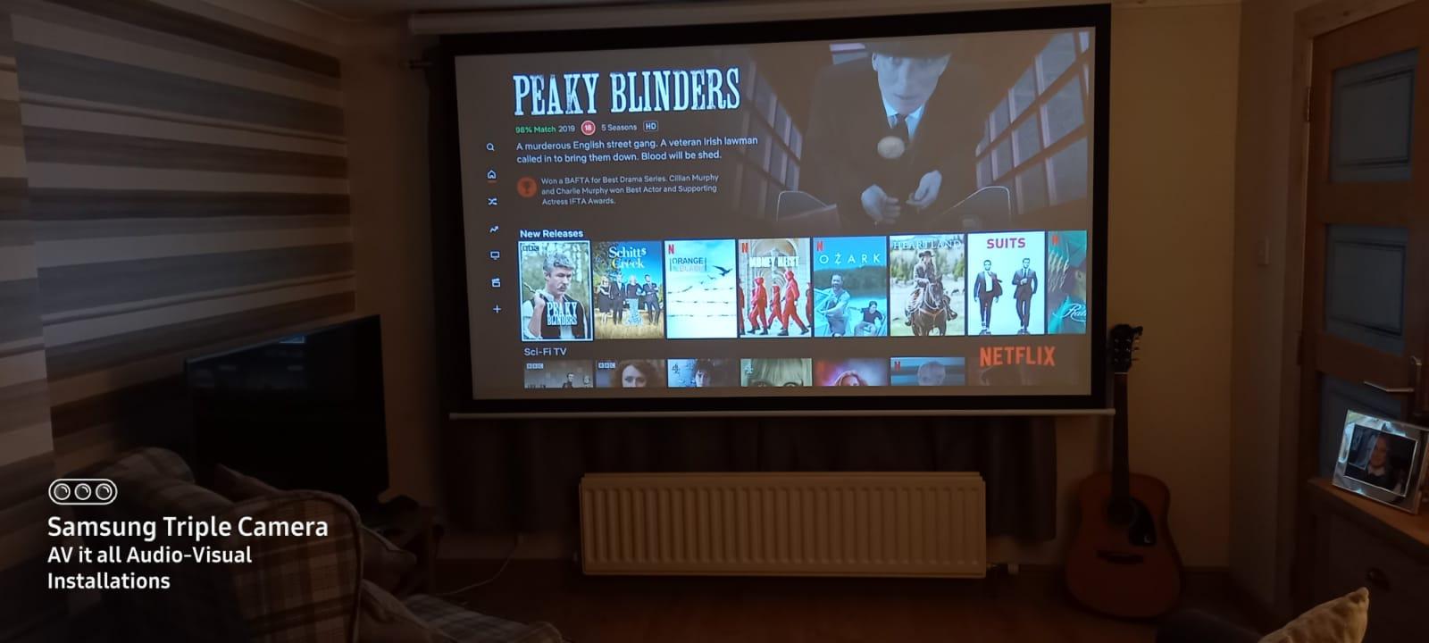 Home cinema projector
